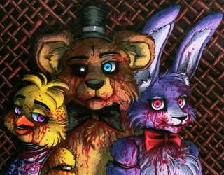 We are soiled with blood / FNaF by Mizuki-T-A