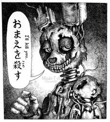 I'll kill you / Springtrap as a Manga FNaF by Mizuki-T-A