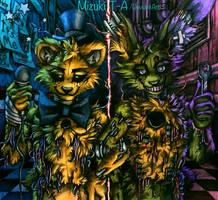 We are still here / Golden Freddy Springtrap FNaF by Mizuki-T-A