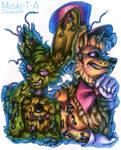 Golden duo / Springtrap Fredbear FNaF