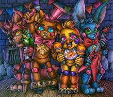 The Rockstar Assemble / FNaF by Mizuki-T-A