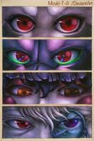 8 gazing eyes by Mizuki-T-A
