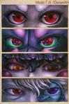 8 gazing eyes