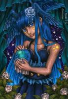 [Art trade] The dragonic fortune teller by Mizuki-T-A
