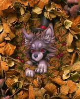 Hide and seek in russet leaves by Mizuki-T-A