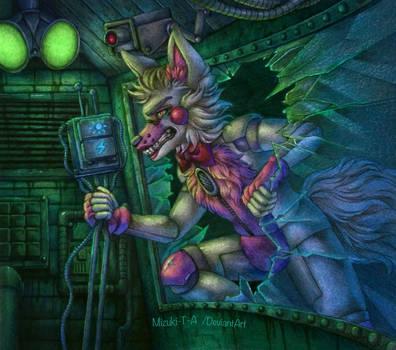 [Redraw] Containment breach / Funtime Foxy FNaF SL by Mizuki-T-A