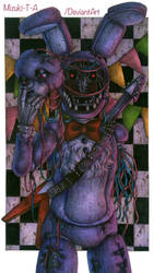 A faceless guitarist / Withered Bonnie FNaF 2 by Mizuki-T-A