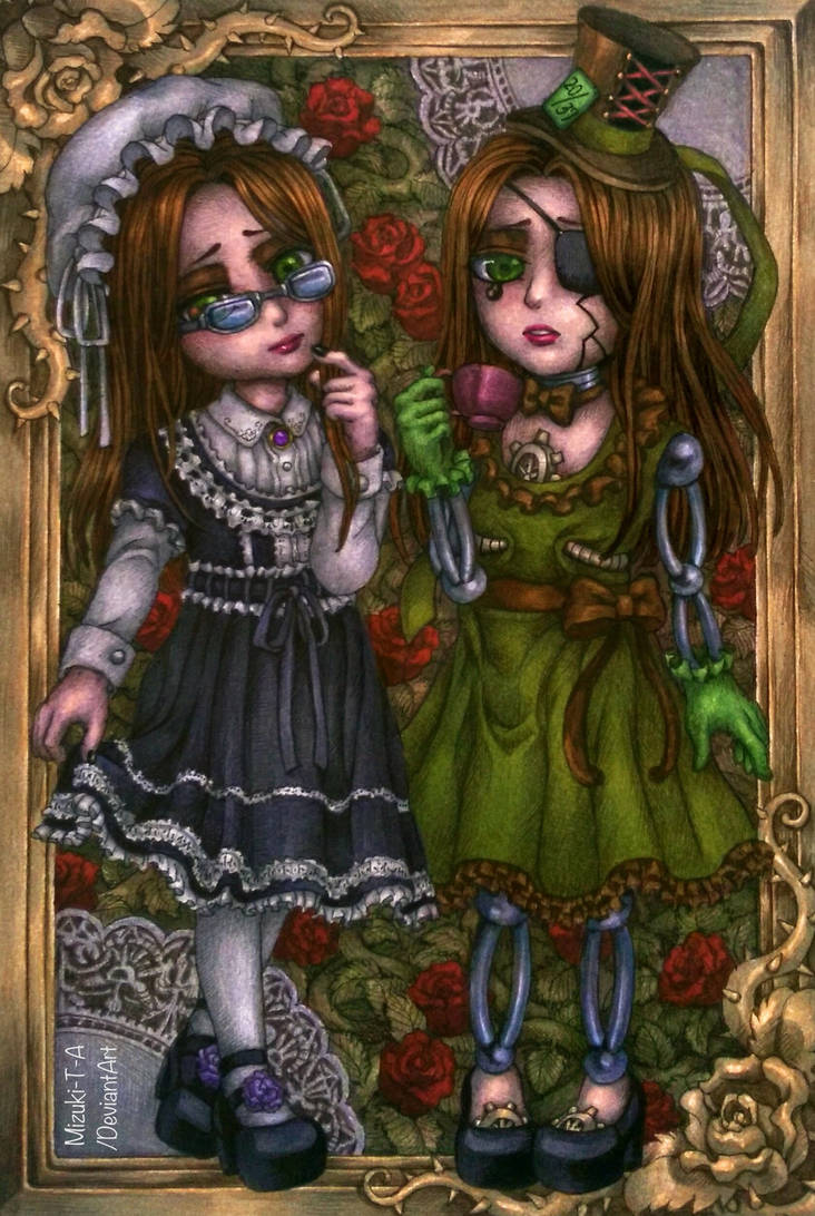 [Gift] The black maid and the green maid by Mizuki-T-A