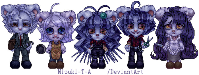 Porcupine family [Pixel art]