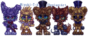 Mascots of pizzeria [Pixel art] / FNaF