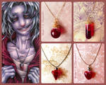 Blood necklaces