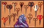 Mizael's scissors collection