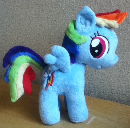 Filly Rainbow Dash Plushie by PlushieScraleos