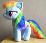 Large Rainbow Dash Plushie with Furry Mane