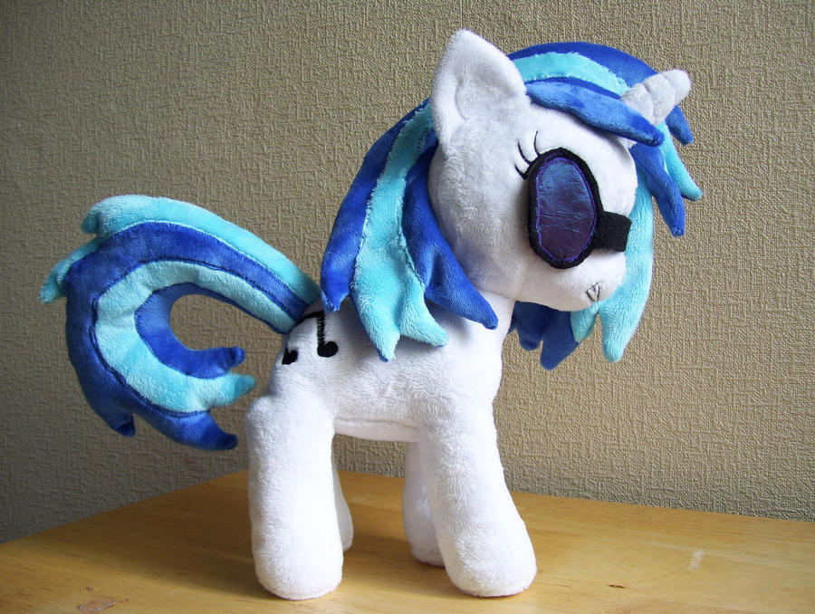 DJ Vinyl Scratch Pon3 Plush by Pinkamoone