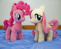 Fluttershy and Pinkie in their new home by Pinkamoone