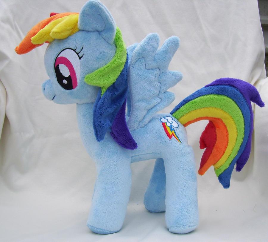 Rainbow Dash Plushie by Pinkamoone