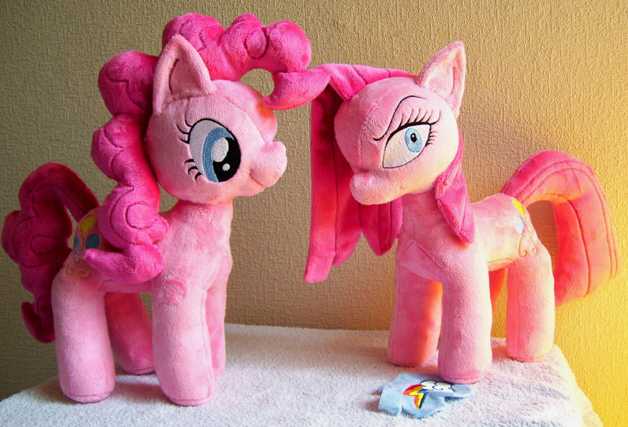 Pinkie and Pinkamena - Ego and Alter Ego by PlushieScraleos