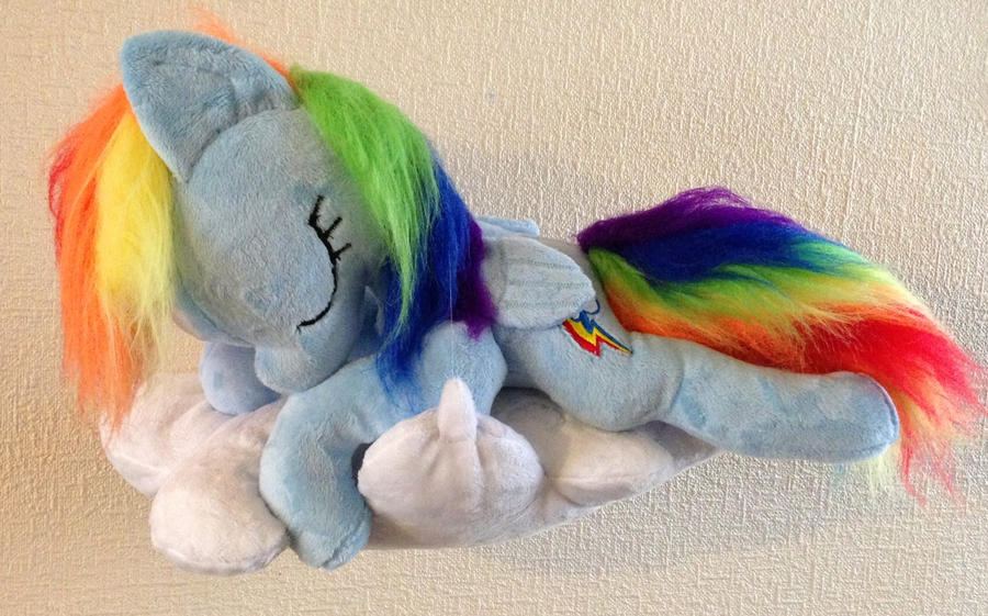 Sleepy Dashie on her cloud by Pinkamoone