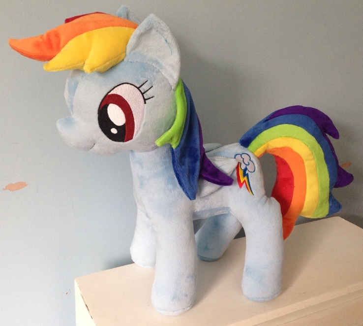 Large Rainbow Dash Plushie by PlushieScraleos