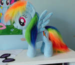 Dashie with faux fur mane and tail