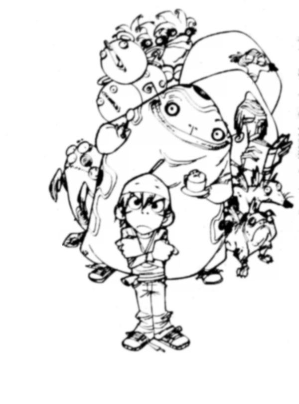 domo kun coloring pages - photo#33