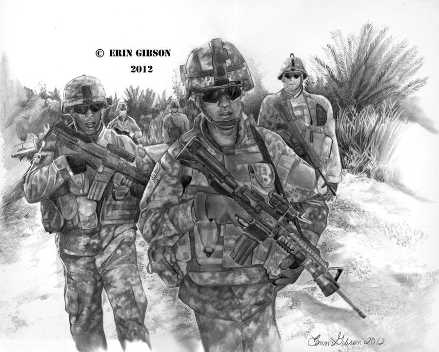 american soldier drawing - photo #18