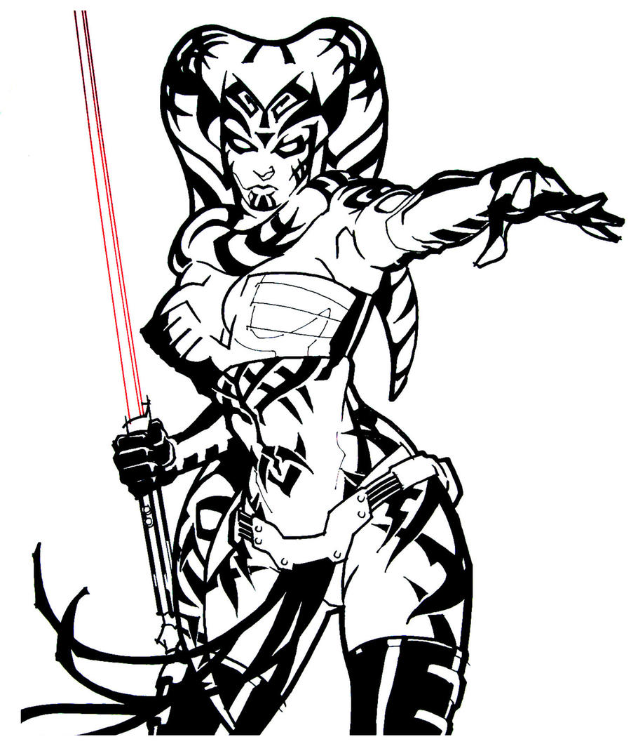 Line Art Free : Star wars legacy by mikems on deviantart
