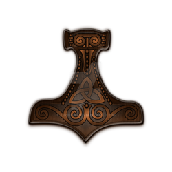 Thor's hammer classic in wood