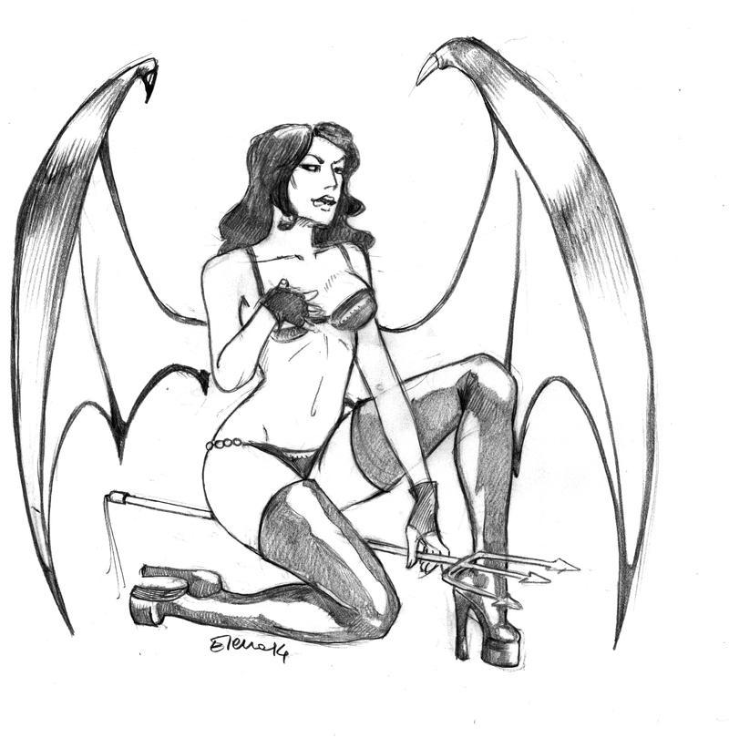 Devil pin-up by HeilyAens