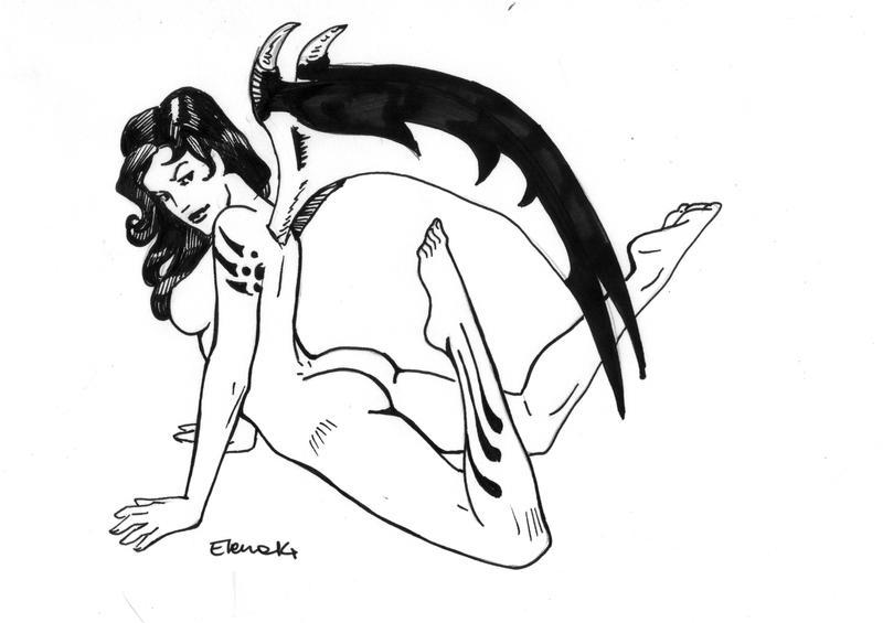 Devil pin-up 2 by HeilyAens