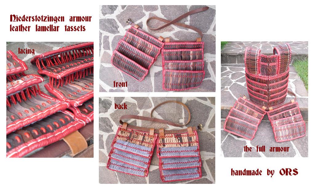 Niederstotzingen armour leather lamellar tassets by enrico-ors-91