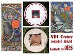 XIII Century roundel shield