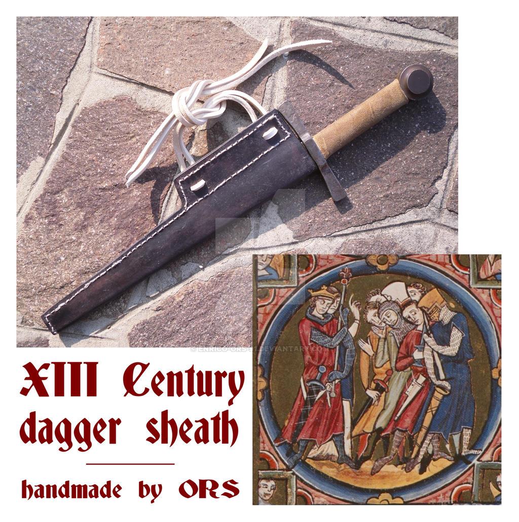 XIII Century dagger sheath by enrico-ors-91