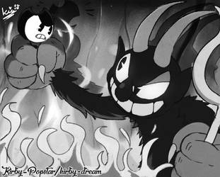 Bendy and the Devil by Kirby-Popstar