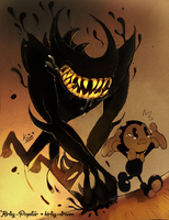 vs. Beast bendy! by Kirby-Popstar