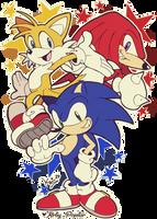 Team Sonic! by Kirby-Popstar