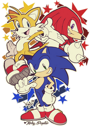 Team Sonic! by Kirby-Popstar
