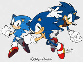 The Sonic Trio! by Kirby-Popstar