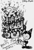 Bendy 2nd anniversary! by Kirby-Popstar