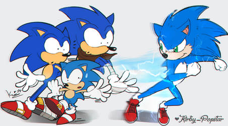 Dumb Running Sonic On Sonicomical Club Deviantart