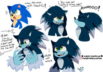 What If Movie sonic as the werehog doodles