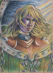Eorl The Young at the Field of Celebrant by Odamako