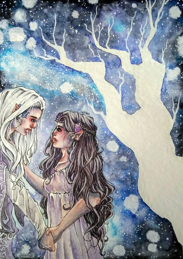 Elw and Melian by Odamako