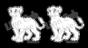 Lion Cub - Line Art Base [PSD and MSPaint]