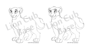 Lion Cub - Line Art Base [PSD and MSPaint] by CaraLuca