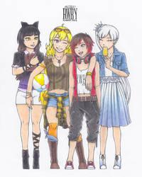RWBY Summer Contest 2015: Team RWBY - Summer Days by CaelumPicta
