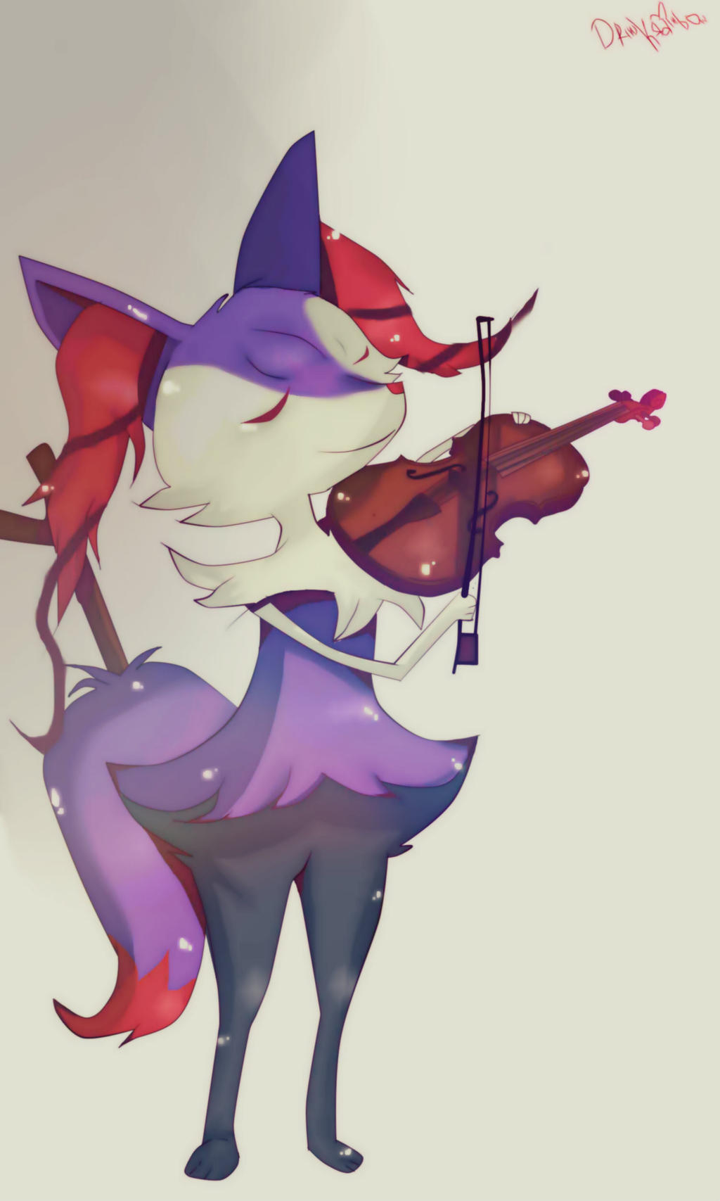 COMMISSION - Braixen Shiny / Pokemon by KikiEatRainbow on DeviantArt