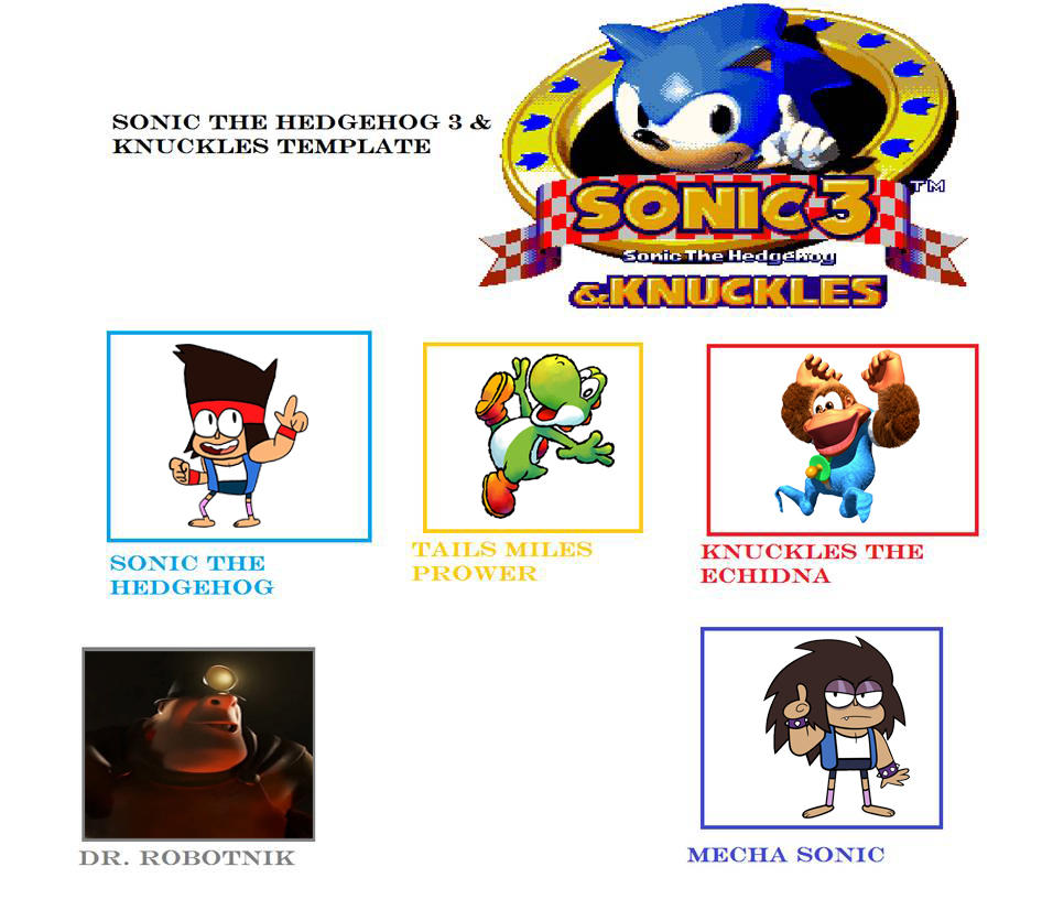 My Sonic 3 And Knuckles Cast Meme By Vinhchaule On Deviantart