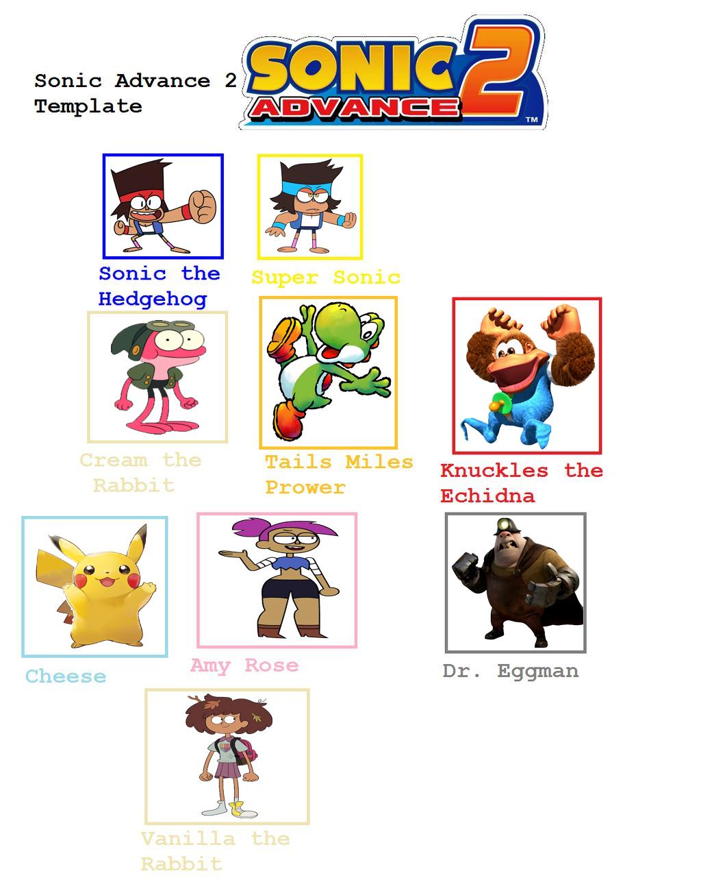 My Sonic Advance 2 Cast Meme By Vinhchaule On Deviantart